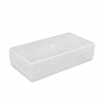 Plastic Compliment Slip Box - Clear / Transparent